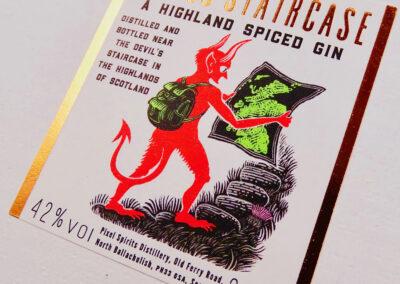 Devil's Staircase Gin Label