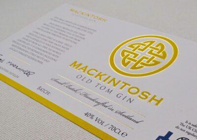 Mackintosh Gin Labels
