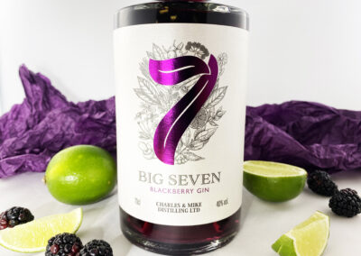Premium Labels For Charles and Mike Distilling Big 7 Gin Brand